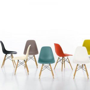eames-chair in verschiedenen Farben