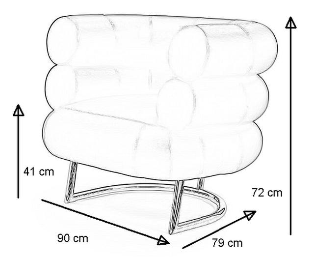Bibendum Sessel mit Abmessungen