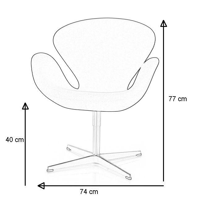 Schwan Sessel mit Abmessungen