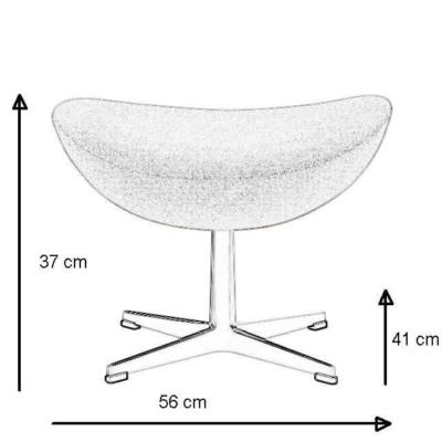 Abmessungen Egg Chair Hocker