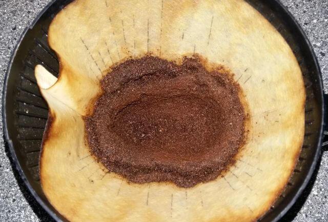 Kaffeesatz in normaler Filterkaffeemaschine
