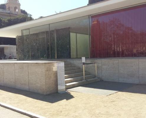 Barcelona Pavillon von außen