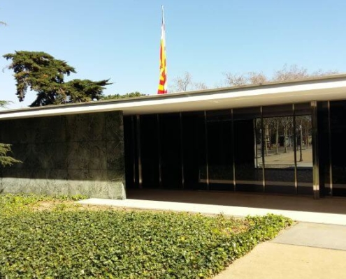 Außenansicht des Barcelona Pavillon