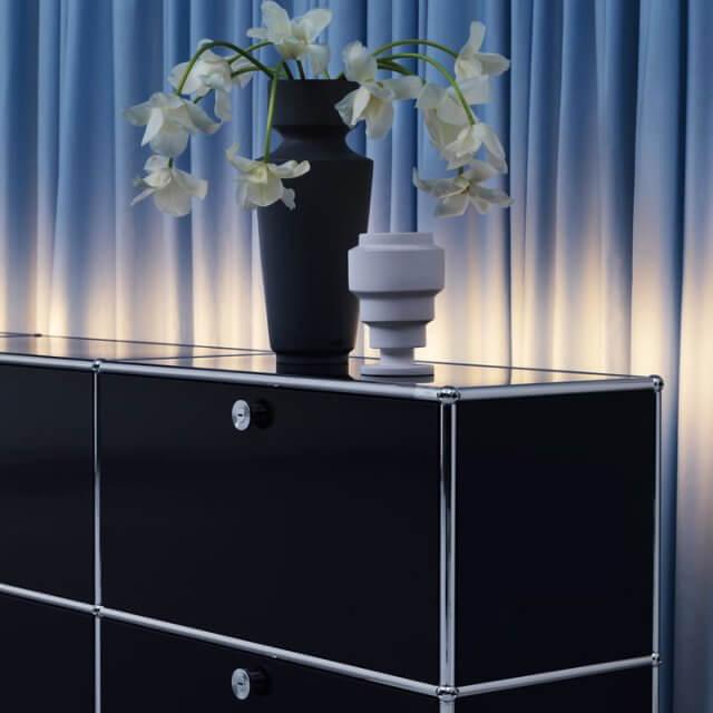 USM Haller Möbel-Sideboard schwarz