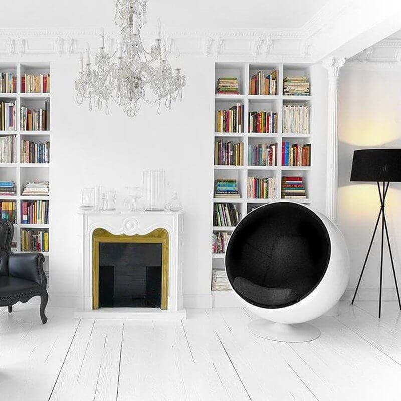 Ball Chair im Wohnzimmer