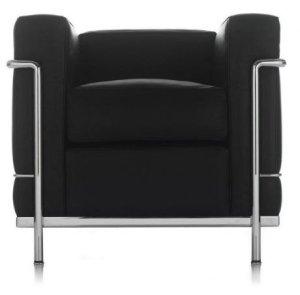 Cassina - LC 2 Poltrona - Gestell schwarz - schwarz - indoor