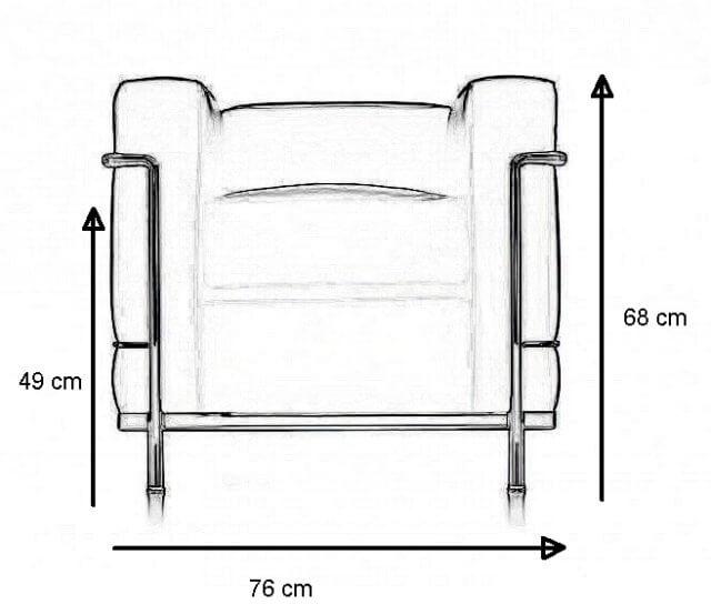 Abmessungen Le Corbusier Sessel