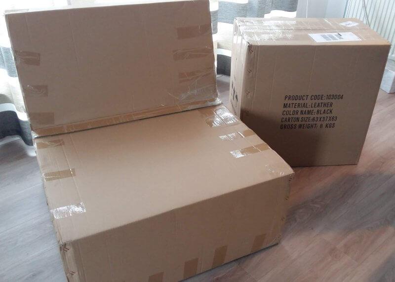 Barcelona-chair-recplica-verpackt