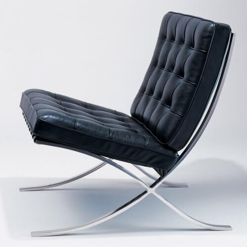 Barcelona Chair in schwarz