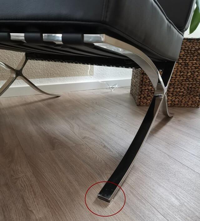 Barcelona Chair mit Schutz gegen Kratzer